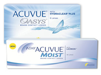 ACUVUE OASYS versus 1-DAY ACUVUE MOIST