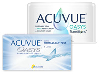 ACUVUE OASYS versus ACUVUE OASYS with Transitions