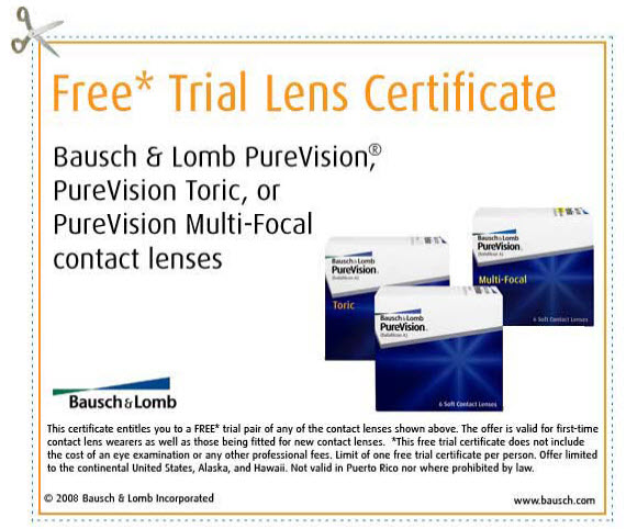 PureVision Free Trial Certificate Example